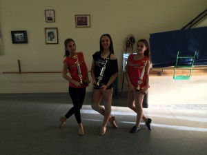 Carlin Ghazarian (Left), Christina Haddadin (Center), Alexandra Hovian (Right) win First Place at I Love Dance 2014