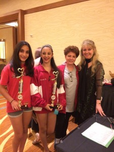 Polin Crete, Christina Haddadin, Helen Zohrabians, and Kim MacKimmie at the I Love Dance Competition