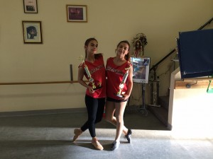 Carlin Ghazarian (Left) and Alexandra Hovian (Right) win First Place at I Love Dance 2014
